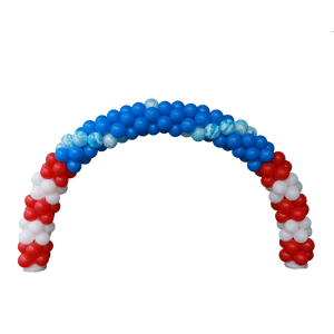 3 Colour Alternate Balloon Arch with Marble Balloons