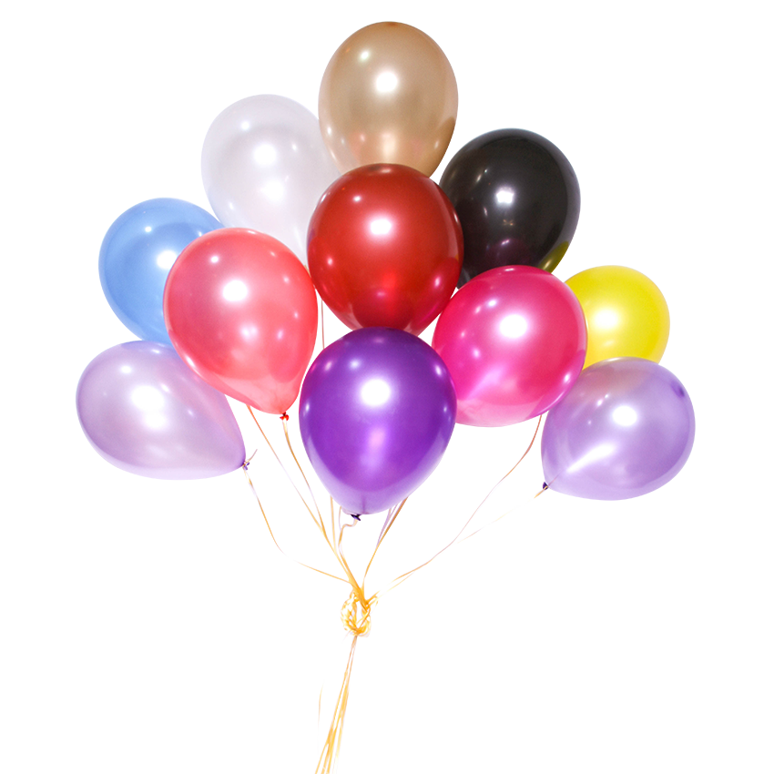 12 inch helium x10 pearlise balloon cluster ezvent for Balloon cluster decoration