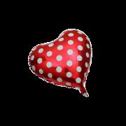 Poker Heart Red