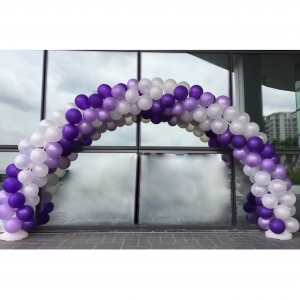 3 Colour Spiral Balloon Arch